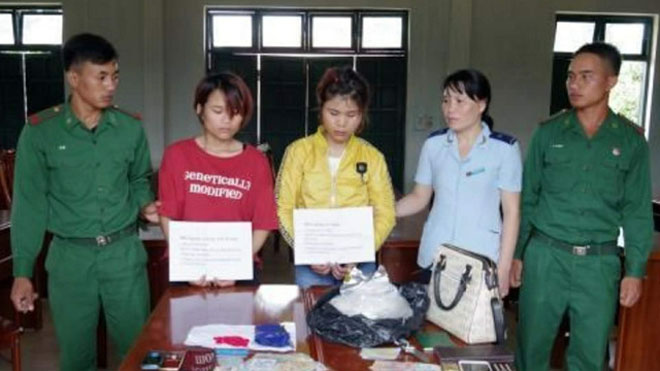 Bắt 2 phụ nữ vận chuyển ma túy qua Cửa khẩu quốc tế Bờ Y